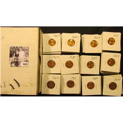 1605 . (23) 1960D, (11) 61D, (9) 63P, (42) 68S, (29) 69D, (17) 74P, & (2) D Gem BU Lincoln Cents car