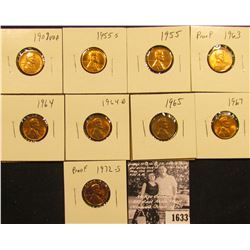 1633 . 1909P VDB, 55P, S, 63P (Proof), 64P, D, 65P, 67P, & 72S (Proof)  Lincoln Cents all grading fr