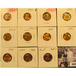 1635 . 1941P, D, S, 42P, D, S, 45P, 52P, 60P LD, 66P (SMS), & 68S (Proof) Lincoln Cents all grading