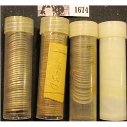 1674 . (134) 1943 D & (24) 43 S Old World War II Steel Cents in plastic tubes.