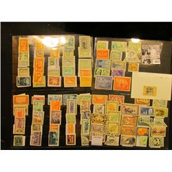 1683 . (4) Stock pages full of Stamps including Canada, Fiji, Bolivia, Costa Rica, Belgium Congo, Ge