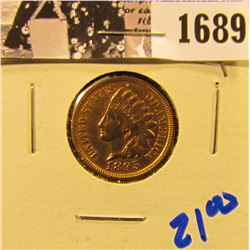 1689 . 1895 Indian Head Penny With Full Liberty, Arrows Visible, And Beads Visible