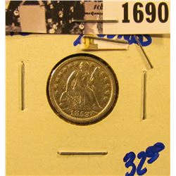1690 . Sharp 1853 Seated Dime With Arrows