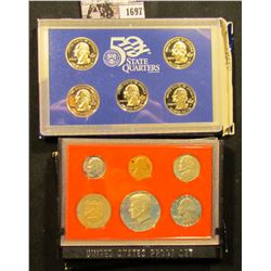 1697 . 1982 S Deep Mirror Cameo U.S. Proof Set with special Mint Medal. Original as issued; & 2003 S