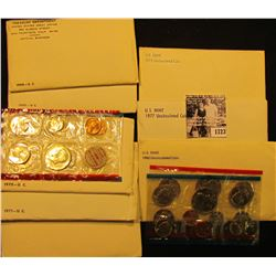 1723 . 1968, 69, 70, 71, 72, 75, 77, & 1980 U.S. Mint Sets, all original as issued. (Total of $20.11
