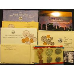 1724 . 1970, 72, 89, 90, 91, 92, & 2008 U.S. Mint Sets, all original as issued. (Total of $24.26 fac