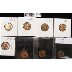 1744 . 1937P, D, S, 50P, 55S, 60P LD, 62P, & 70S Lincoln Cents, all Red BU to Superb Gem BU.