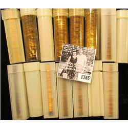 1765 . (15) Partial & Full Rolls of Lincoln Cents in plastic tubes, most appear to be BU Memorials,