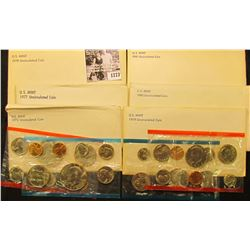1773 . 1973, 77, 78, 79, 80, & 81 U.S. Mint Sets. All original as issued. (total face value $24.93)