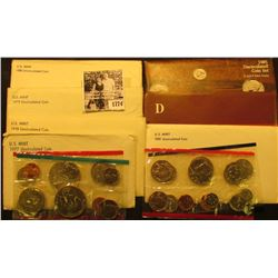1774 . 1977, 78, 79, 80,  81, 84, & 85 U.S. Mint Sets. All original as issued. (total face value $24
