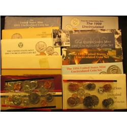 1778 . 1984, 86, 89, 90, 91, 92, 94, 95, 97, & 98 U.S. Mint Sets. All original as issued. (total fac