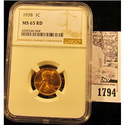 1784 . 1935 D Lincoln Cent ICG slabbed MS66 RD