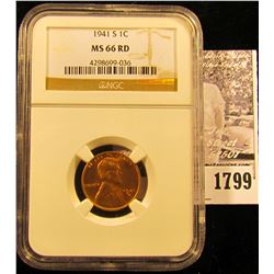 1789 . 1937 P  Lincoln Cent NGC slabbed MS67 RD.