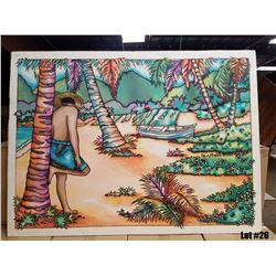 """""""Pass the Day Away"""" by Susan Patricia, Signed Original Painting on Silk, 38x29, $3000 Value"""