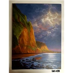 """Coastal Peace"" by Arozi, Original Oil, 24x18, $2995 Value, Stretched on Bars"