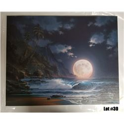 """Lunar Spectable"" by Arozi, A/P on Canvas, 24x30, Ltd. Ed. 5 of 50, $1595 Value"