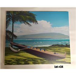 """""""Balmy Tradewinds"""" by Juno Galang, Original, 24x20, $3500 Value, Stretched on Bars"""