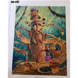 """Tikilixor Mai Tai Mixor"" by Tom Thordarson, Giclee Canvas, 18x24, $395 Retail, 66/250, Signed and N"