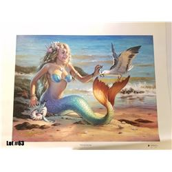 """Sharing Herring"" by Tom Thordarson, 4 of 50 Giclee Canvas RM, 24x18, $1200 Retail, Signed and Numbe"