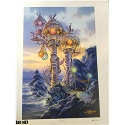 """Tiki Towers"" by Tom Thordarson, 2 of 50 Giclee Canvas, 18x27, $350 Retail, Signed and Numbered"