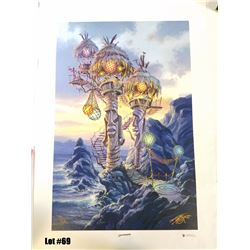 """Tiki Towers"" by Tom Thordarson, 7 of 50 Giclee Canvas, 18x27, $350 Retail, Signed and Numbered"