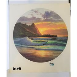 """Kauai Sea of the Moon"" by Lisa Casay, 56 of 450, Offset Lithograph, 27X30, $350 Retail, Signed and"
