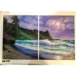 """""""Bali Hai Moonlight"""" by Anthony Casay, 296 of 450, Offset Lithograph, 39.5X26, $250 Retail, Signed a"""