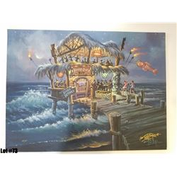 """""""Hang Over Hut"""" by Tom Thordarson, 38 of 50, Paper Giclee, 24X18, $175 Retail, Signed and Numbered"""