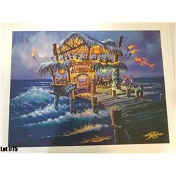 """""""Hang Over Hut"""" by Tom Thordarson, 40 of 50, Paper Giclee, 24X18, $175 Retail, Signed and Numbered"""