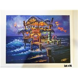 """""""Hang Over Hut"""" by Tom Thordarson, 41 of 50, Paper Giclee, 24X18, $175 Retail, Signed and Numbered"""