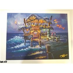 """""""Hang Over Hut"""" by Tom Thordarson, 42 of 50, Paper Giclee, 24X18, $175 Retail, Signed and Numbered"""