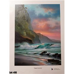 """""""Napali Evening"""" by R. Gonzalez, 163 of 350, Canvas Giclee, 9X12, $125 Retail, Signed and numbered."""