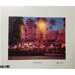 """""""Royal Evening"""" by R. Gonzalez, 30 of 250, Canvas Giclee, 12X9, $150 Retail, Signed and numbered."""