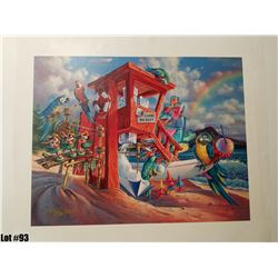 """""""Any Flavor Shave Ice"""" by Tom Thordarson, 36 of 250, Canvas Giclee, 24X19, $395 Retail, Signed and n"""