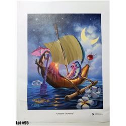 """Crescent Courtship"" by Tom Thordarson, 38 of 250, Canvas Giclee, 11X14, Signed and num"