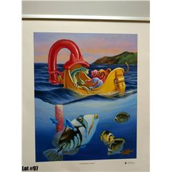 """""""Our Glass Bottom Boat"""" by Tom Thordarson, 13 of 250, Canvas Giclee 16X20, $275 Retail, Signed and"""