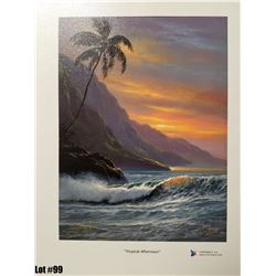 """""""Tropical Afternoon"""" by R. Gonzalez, 38 of 350 Canvas Giclee, 9X12, $125 Retail, Signed and numbered"""