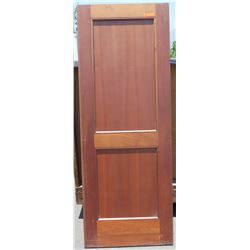 """Wooden Door - African Mahogany (some termite damage - see photos), 80"""" x 30"""""""