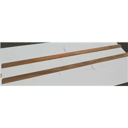 Qty 2 Raw Solid Sapele Strips - Approx 8' to 9'