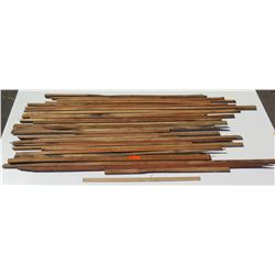 "Assorted Koa Wood Bundle, Various Lengths, Approx 1""x1"" to 2"" Thick"