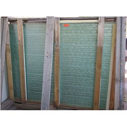 Large Textured Bamboo Motif Glass Panels (qty to be added)