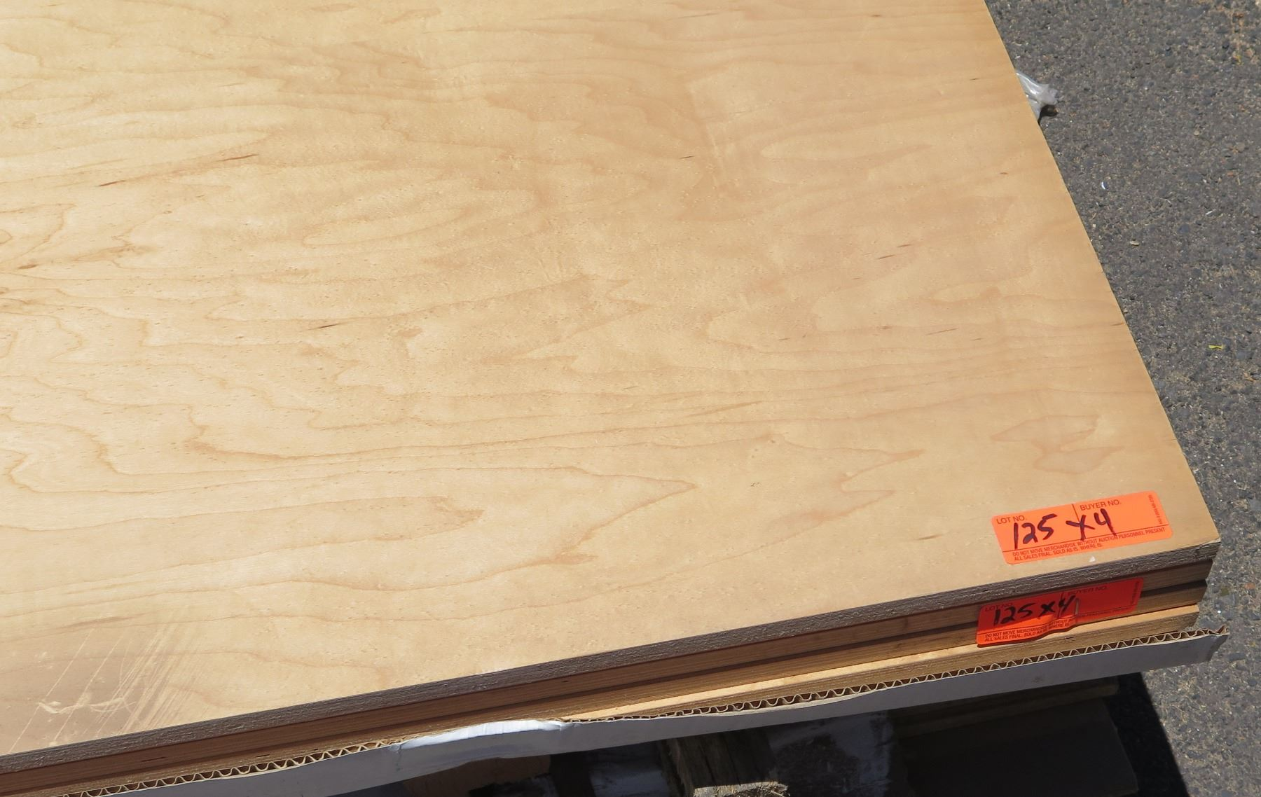 Two Sided White Maple Panel 34 Thick 4pcs