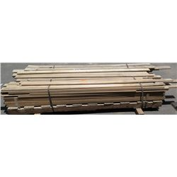 "Pallet of 3/4"" Tongue/Groove Solid Maple Wood Flooring, 96"" x 3 1/4"", Approx. 116pcs"