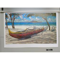 "Qty 3 ""Kailua Beach Park"" by Russell Lowery, Paper, 36X24"