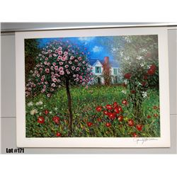 """Spring House"" Artist Unknown, Paper Giclee, 32 X 25-1/4, Signed and Numbered, $150 Retail"