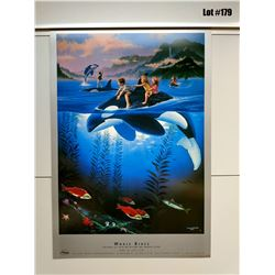 """Whale Rides"" by Wyland/Jim Warren, Paper, 18 1/4 X 26"