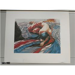 """Qty 2 """"Pele Moe"""" by Janet Stewart, Paper Giclee, 24 X 20, Signed/Numbered (125 & 302 of 1800) $350 R"""
