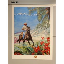 """""""Paniolo"""" by Janet Stewart, Paper Giclee, 32 3/4 X 24, Signed/Numbered (AP 9 of 45)"""