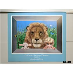 """Qty 5 """"Jungle Mischief"""" by Margaret Keane, Paper Giclee, 28 X 24"""