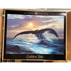 """Qty 5 """"Golden Tale"""" by Anthony Casay, Paper, 30 x 24"""